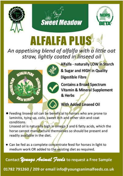 Introducing The Latest Addition To Our Fiber Feeds = ALFALFA PLUS